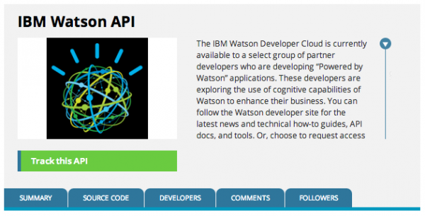 An API for the Watson computer by IBM