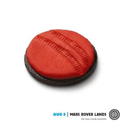 Oreo Mars Rover Ad